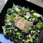 Chicken Salad Recipe with Avocado and Candied Pecans