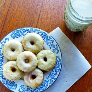 40 Calorie Whole Wheat Lemon Poppy Seed Donuts with Sour Cream Glaze- FoodFaithFitness