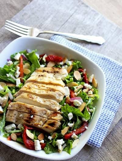 Roasted Red Pepper Salad - FoodFaithFitness