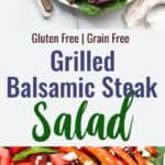 Balsamic Steak Salada Collage photo