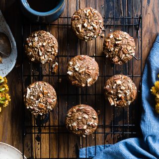 Easy Healthy Gluten Free Carrot Cake Muffins