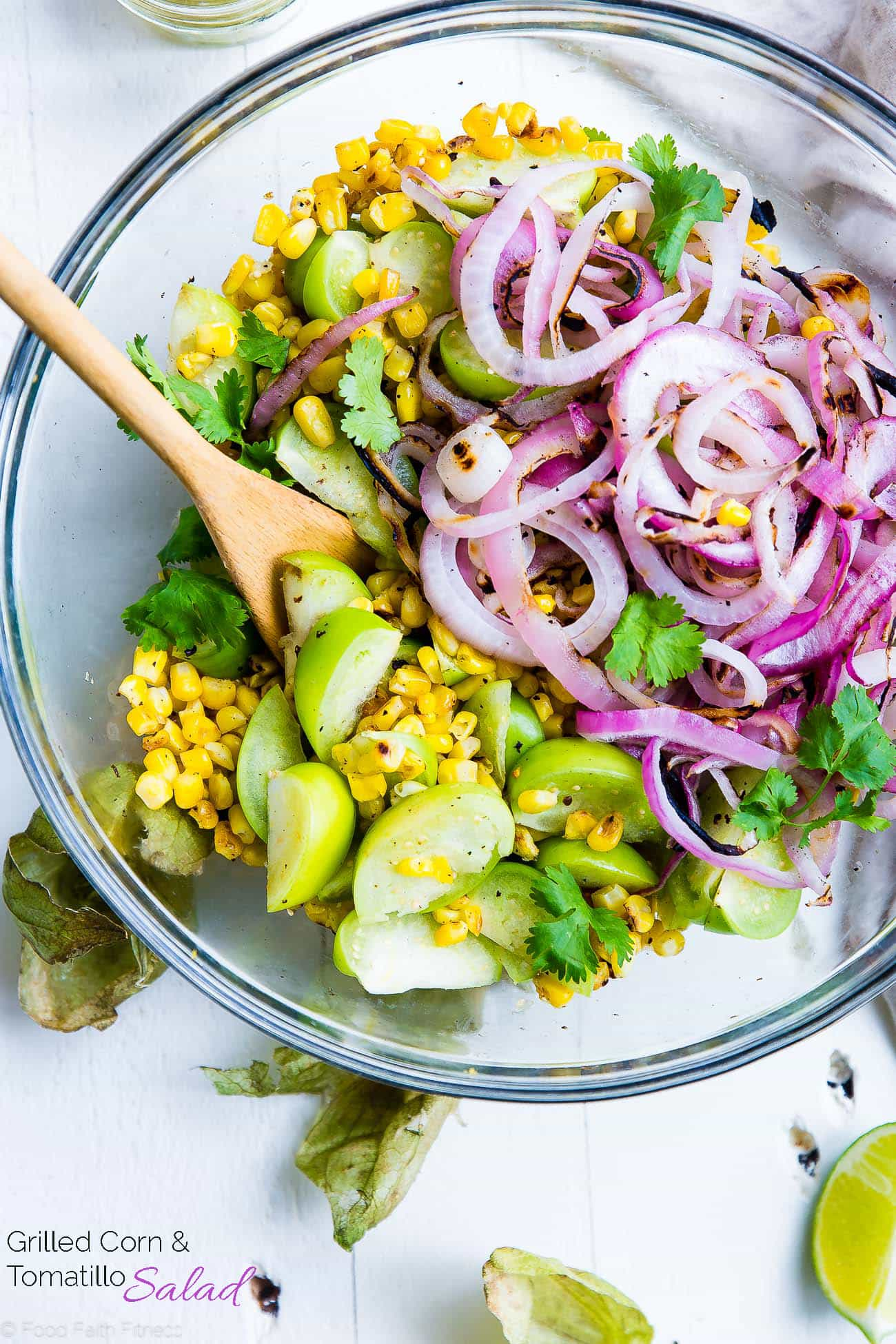 Grilled Mexican Corn Salad with Tomatillos | Food Faith ...