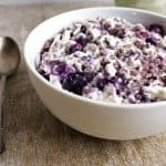 Blueberry Cheesecake Oatmeal {Gluten Free} - Food Faith Fitness