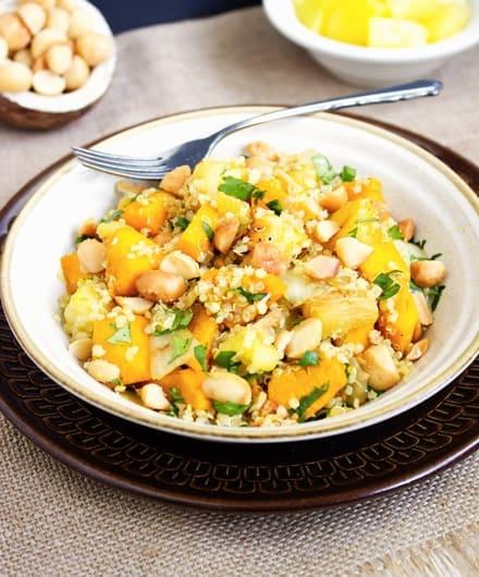 Tropical Squash & Quinoa Bowl {GF & Vegetarian} - Food Faith Fitness