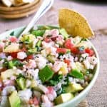 Ceviche Recipe with Shrimp and Pineapple  {Low Carb & GF}