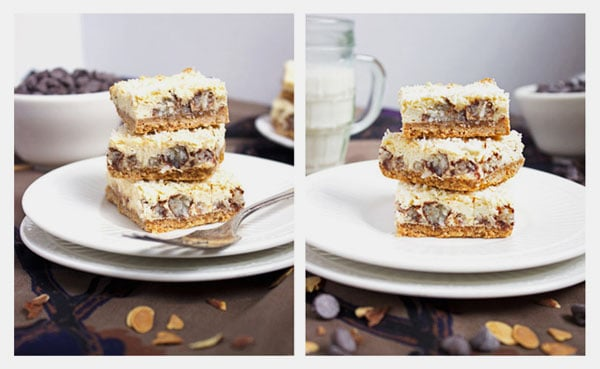 Skinny Almond Joy Cheesecake Bar {GF} - Food Faith Fitness