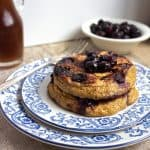 Healthy Pancake Recipe with Oats and Blueberries {GF}