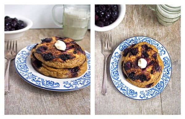 Oatmeal Blueberry Pancakes {GF} - Food Faith Fitness