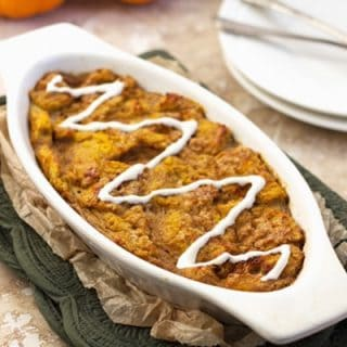 Pumpkin Pie French Toast Bake {Low fat, Lower Calorie & Whole Wheat} - Food Faith Fitness