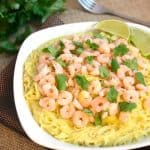 Shrimp Pasta with Creamy Curry Sauce {Gluten Free & Low Fat}