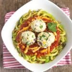 Mexican Zucchini Noodles with Jalapeno Popper Turkey Meatballs {Gluten Free, Low Carb & High Protein} - Food Faith Fitness