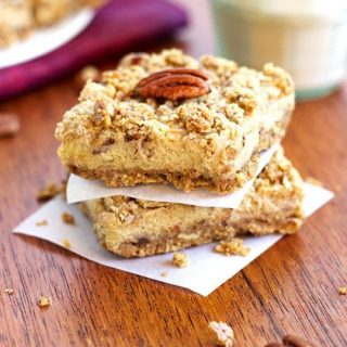 Pecan Crusted Sweet Potato Pie Squares {Gluten Free} - Food Faith Fitness
