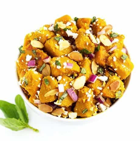 Honey Ginger Glazed Squash Salad {GF & Low Fat} - Food Faith Fitness