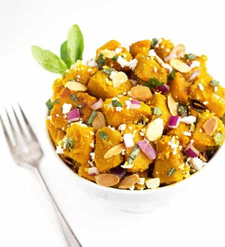 Honey Ginger Glazed Squash Salad {GF & Low Fat} - Food Faith Fitness