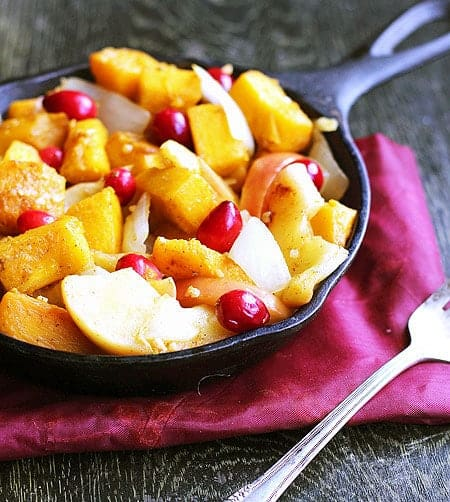 Maple Roasted Pumpkin & Apples with Browned Butter - Food Faith Fitness {GF}