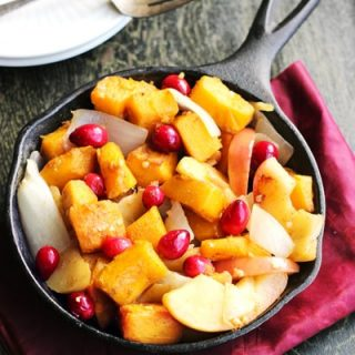 Roasted Pumpkin Recipe with Maple Syrup and Apples {GF}