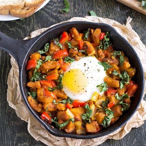 Squash, Pepper & Kale Hash {GF, Low Fat & Vegetarian} - Food Faith Fitness
