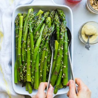 Easy Blanched Asparagus Recipe with Maple Dijon Vinaigrette