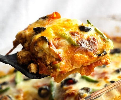 Turkey Zucchini Pizza Lasagna {GF, Low Carb & High Protein} - Food Faith Fitness