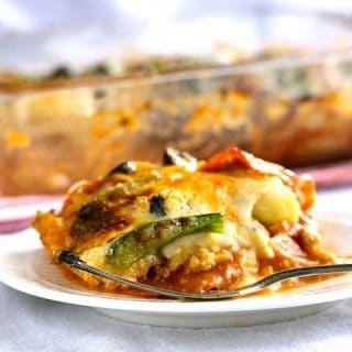 Zucchini Lasagna: Pizza Style {GF, Low Carb & High Protein}