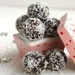 Almond Joy Avocado Truffles – {Gluten Free, No Sugar Added, High Protein & Low Fat}