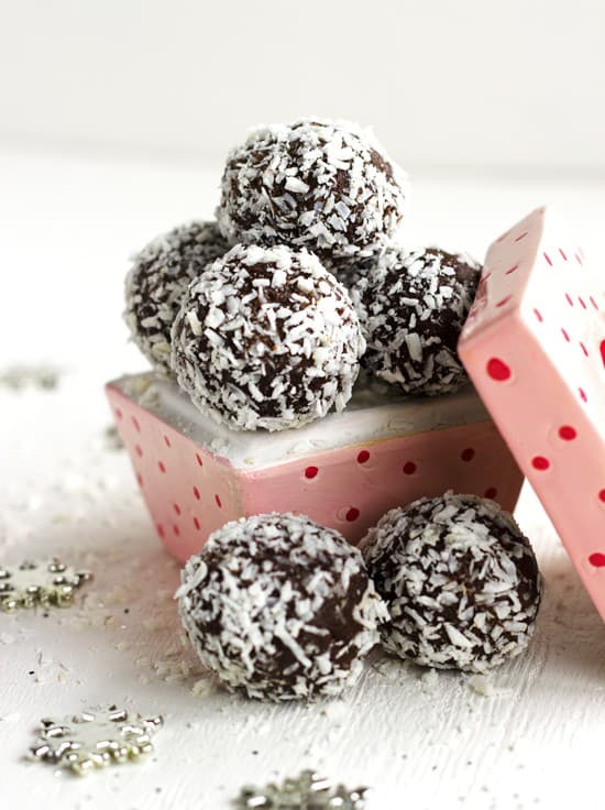 Almond Joy Avocado Truffles - {Gluten Free, No Sugar Added, High Protein & Low Fat}