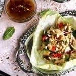 Larb Gai Lettuce Wraps {Low Carb, GF, Low Fat & Low Calorie} - Food Faith Fitness