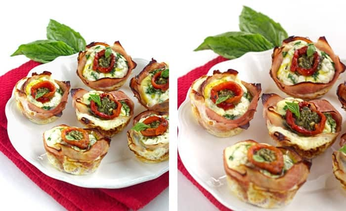 Mediterranean Ham And Egg Cups {Low Carb, Low Fat, High Protein, Low Calorie & GF} - Food Faith Fitness