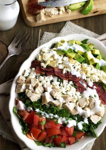 Cobb salad recipe low calorie and low fat food faith fitness skinny cobb salad low carb low calorie low fat high protein forumfinder Gallery