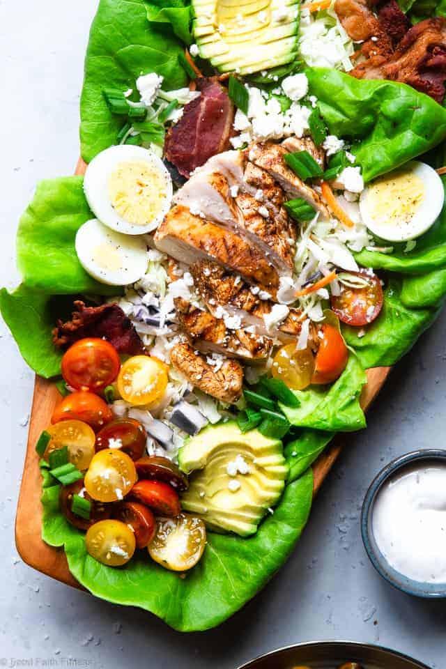 Healthy Chicken Cobb Salad Recipe Food Faith Fitness