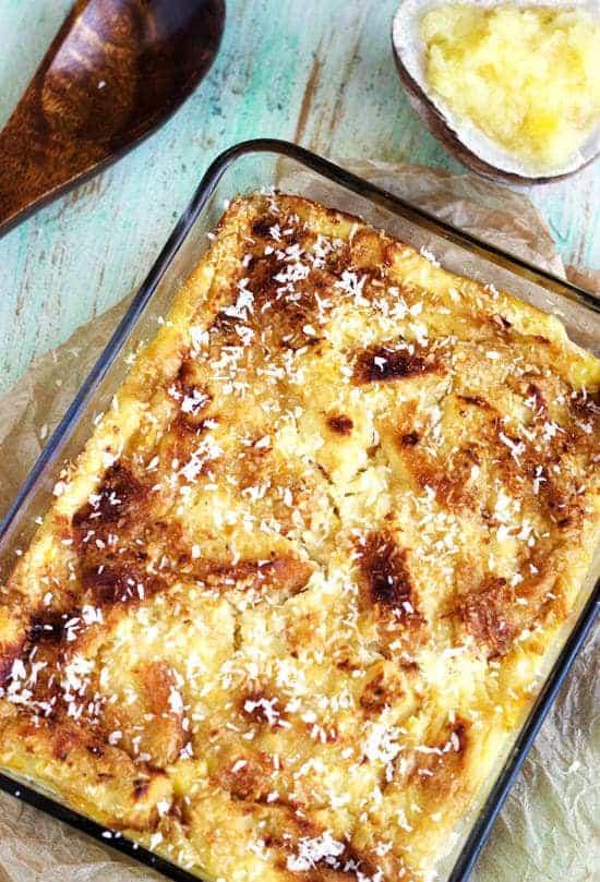 Skinny Pina Colada Bread Pudding - Food Faith Fitness