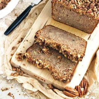 Gluten Free, Paleo Banana Bread with Pecans