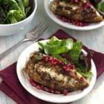 Stuffed Chicken Breast Recipe with Goat Cheese, Pomegranates and Balsamic Reduction {High Protein + GF}