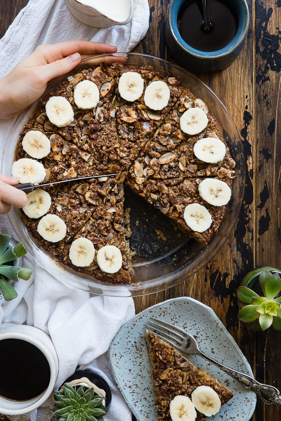 top view of quinoa breakfast bake