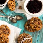Healthy Breakfast Cookies with Cranberries and Almonds {GF, Vegetarian, Naturally Sweetened}