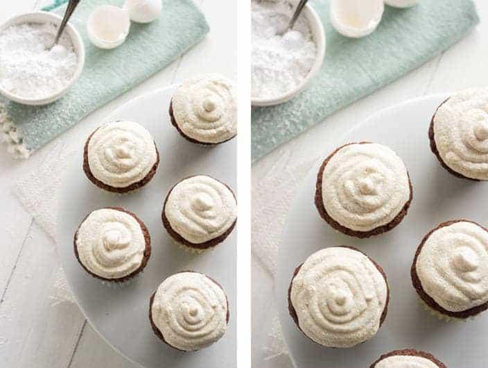Carrot Cake Cupcakes {GF + Lower Fat} - Food Faith Fitness