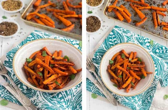 Coconut Cumin Roasted Carrots {Gluten Free + Low Fat} - Food Faith Fitness