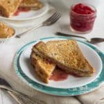Healthy Stuffed French Toast with PB & J {Low Calorie, Low Fat, Whole Wheat}
