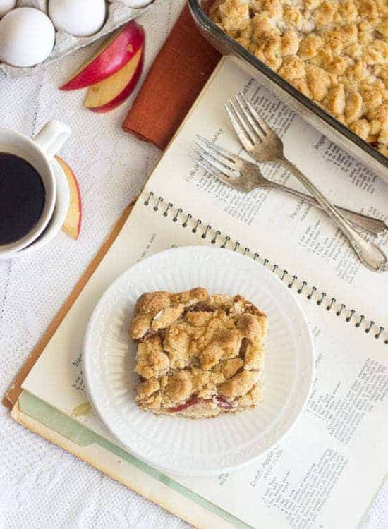 Grandma's Apple Platz - A quick and easy dessert to feed a crowd - Food Faith Fitness