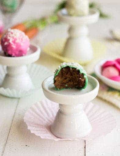 Skinny Carrot Cake Truffles - {Low Calorie, Low Fat + GF} - Food Faith Fitness