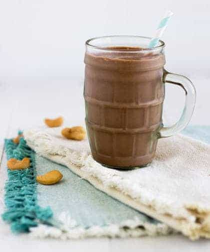 Chocolate Protein Smoothie + A Delicious Probiotic Drinks Cookbook Giveaway! - Food Faith Fitness