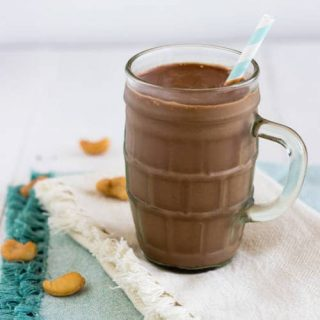 Protein Smoothie Recipe with Chocolate and Peanut Butter
