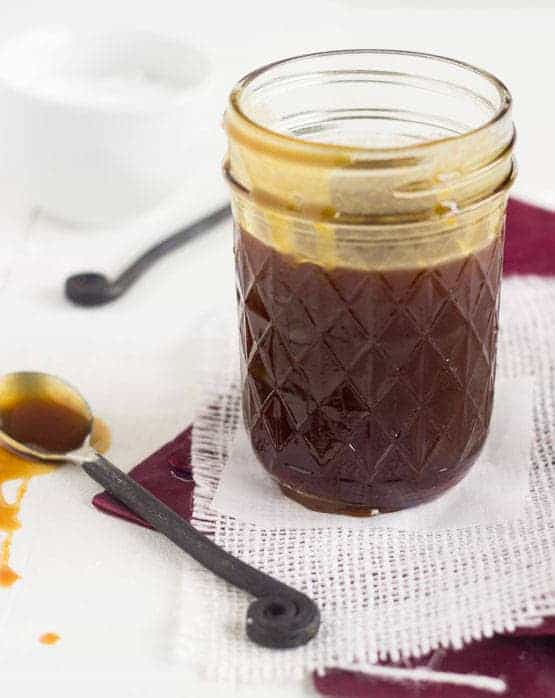 Lighter Coconut Caramel Sauce {GF} - Food Faith Fitness