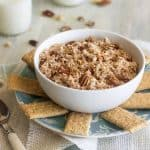 Healthy, Gluten Free Carrot Cake Dip { Lower Fat + Super Simple}
