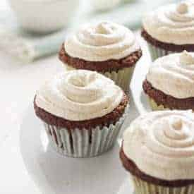 Carrot Cake Cupcakes {GF, Lower Fat} - Food Faith Fitness