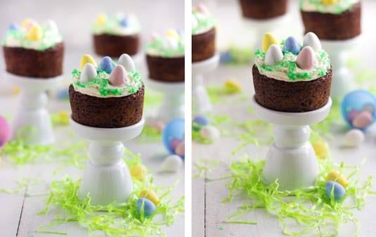 Mini Easter Carrot Cakes - {GF + Lower Fat} - Food Faith Fitness