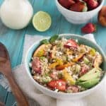 Quinoa Salad with Fruit and Coconut Lime Dressing {GF, Vegetarian + Low Fat}