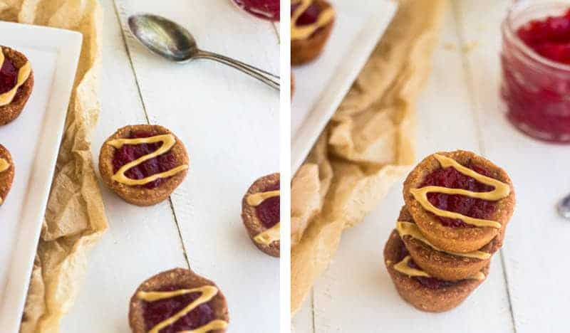 Easy Skinny Peanut Butter and Jelly Cookie Cups {GF, Low Calorie, Low Fat} - Food Faith Fitness