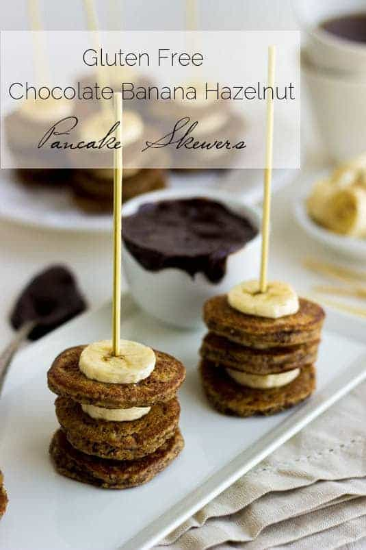 ... Skewers with Hazelnut Meal, Bananas and Chocolate Dip for #Brunchweek