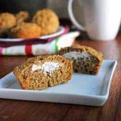 Carrot Cake Muffins with Cream Cheese Center - Food Faith Fitness